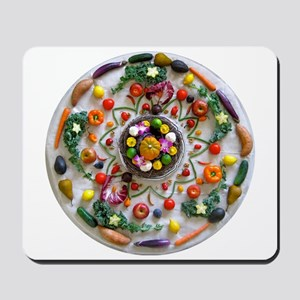 Fruit & Veggie Mandala Mousepad